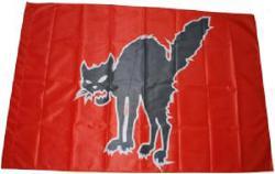 Schwarze Katze (rot)
