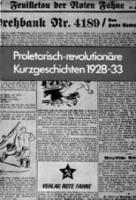Proletarisch-revolutionäre Kurzgeschichten 1928 - 1933 (Buch - 198 Seiten, Paperback)